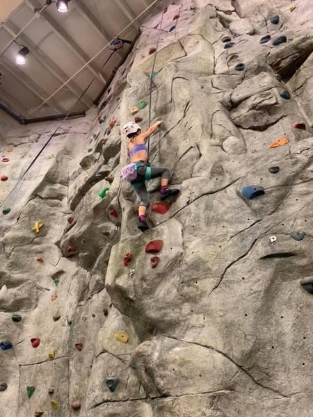 daughter climbing