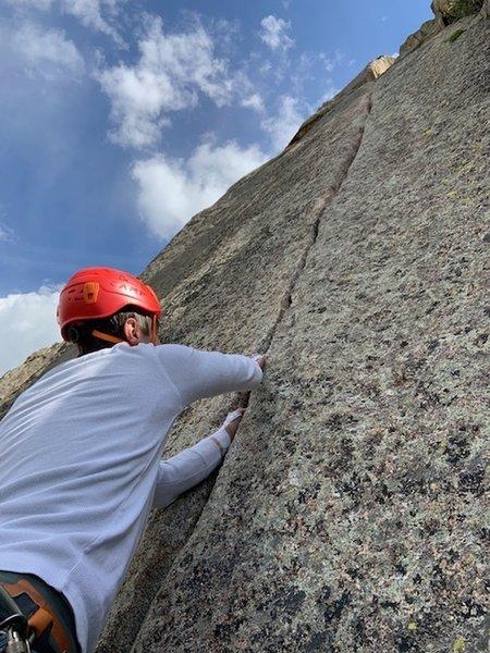 Perfect splitter on Pear Buttress - the Book / Lumpy Ridge