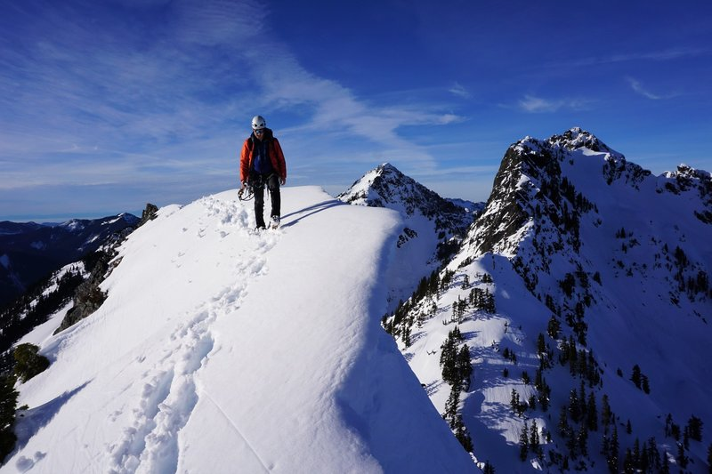 Walking the summit ridge