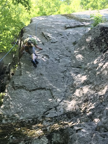 Lower section of quartz wall