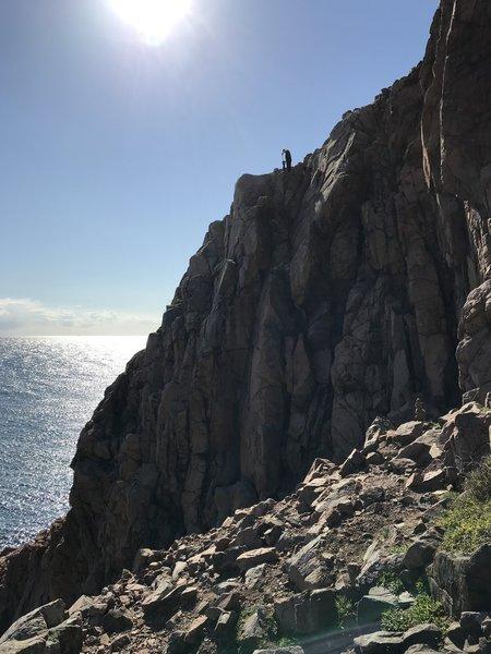 Middle part of the crag Photo: Jens B. Mørch