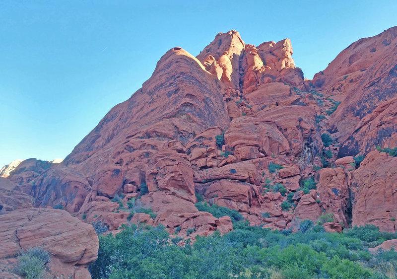 three SouthWest+South ridges of Calico Peak