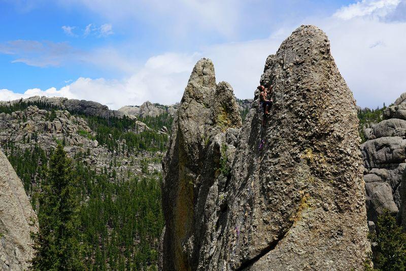 Sam climbing Riddle