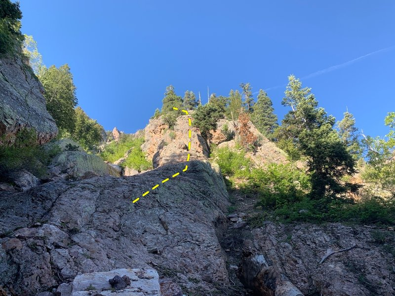 """Where we started up the ridge—right about where GPS coordinates posted in comments will take you (40°39'49.4""""N 111°46'03.4""""W )."""