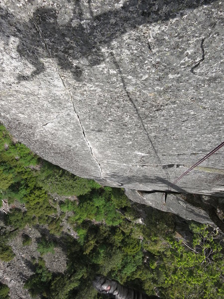 Looking down the $$$ seventh pitch. Link it with the sixth for all the glory!