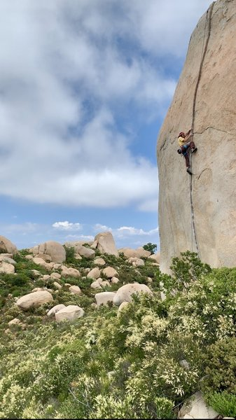 Working the route on TR solo.