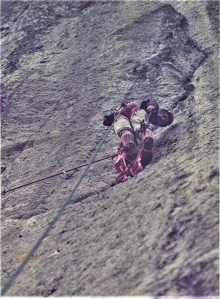 Paul Ross on the FA of Mines of Moria Second pitch. 1972