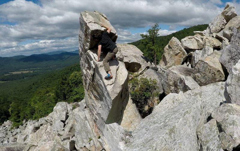 """Very....""""unique"""" boulder problem."""