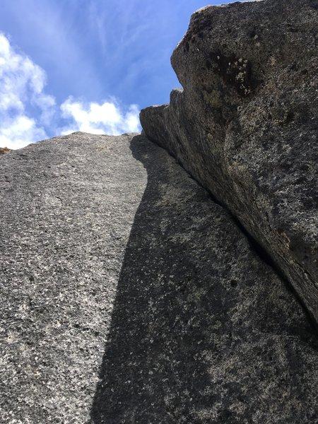 Fun crack climbing, albeit short