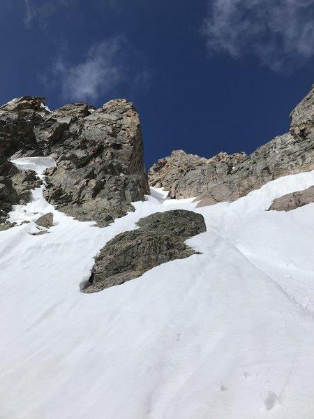 View of the base of the couloir
