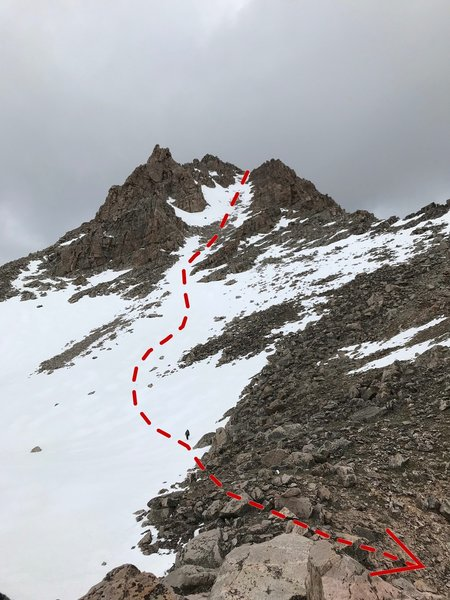 View of the upper portion of the descent.