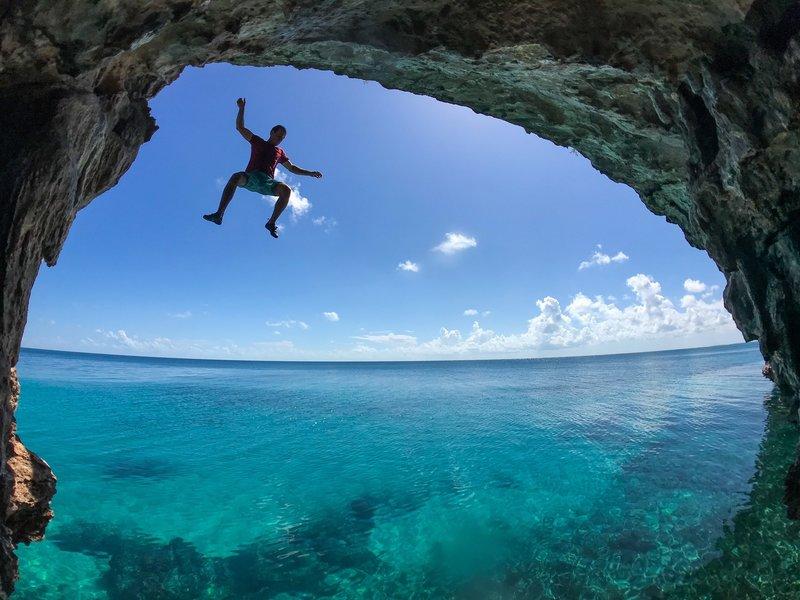 Cave Cove descent beta.