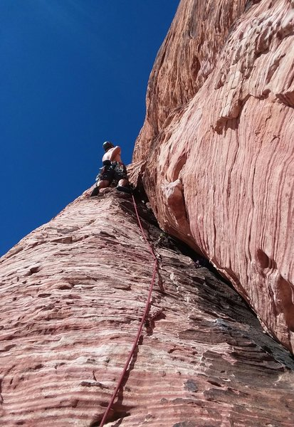 Brad Parker's first trad lead<br> You Are What You Eat