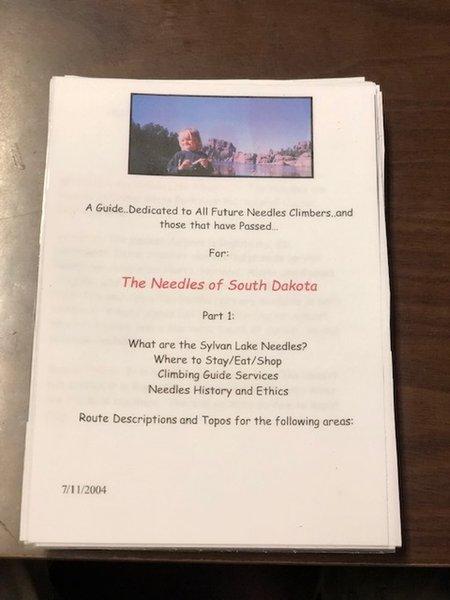 Cindy Tolles 2004 Sylvan and Needles Guidebook