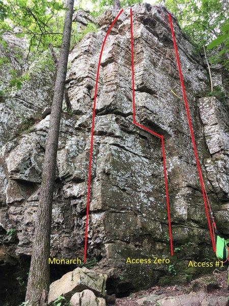 Monarch / Access Zero / Access #1 - Lincoln Lake Northside - Main Wall