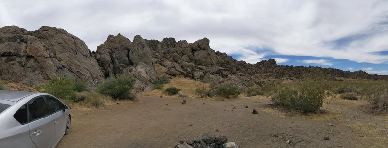 View from the little camp ground in front of Caprica Wall