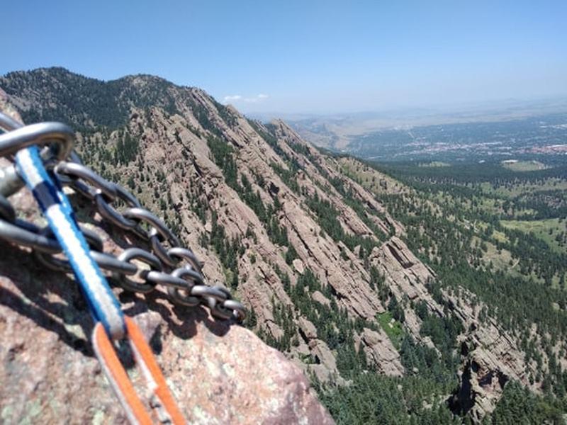 Good views of Bear Canyon and the whole climb.