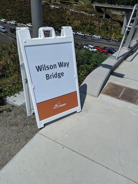 Bridge sign.
