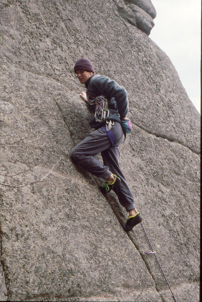"An early ascent of ""Star in the Dust"", Good Luck Cliff."
