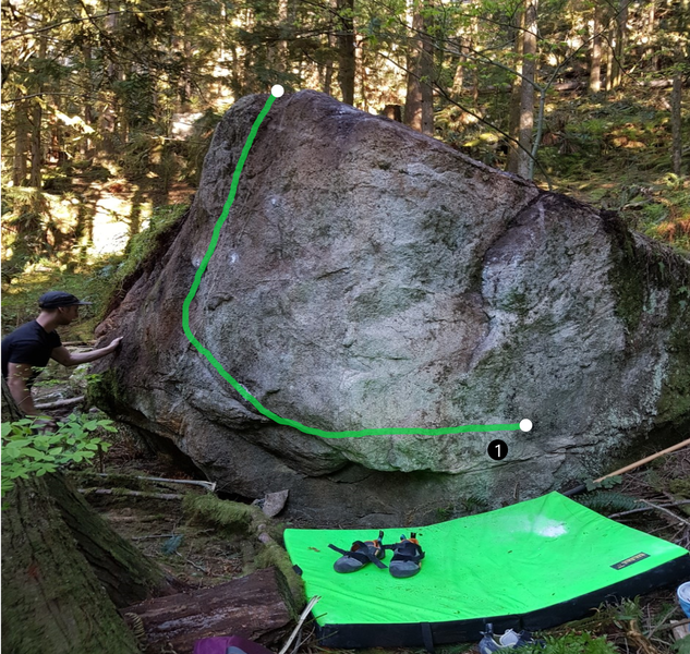 first climb on the new boulder