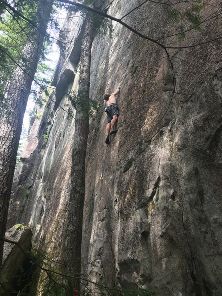 Luke getting a post-rebolt ascent! Probably the first in many years..