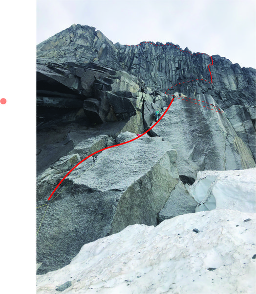 Route overlay from glacier