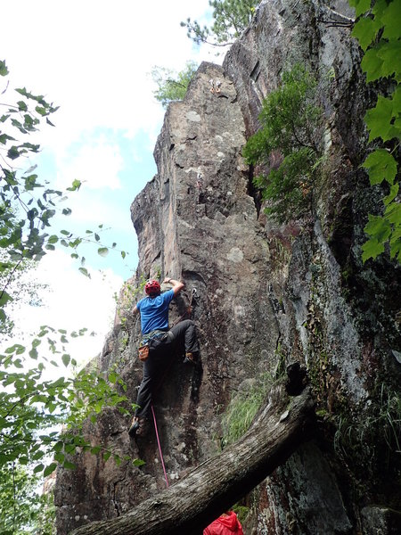 Dustin leading the pillar; summer 2015