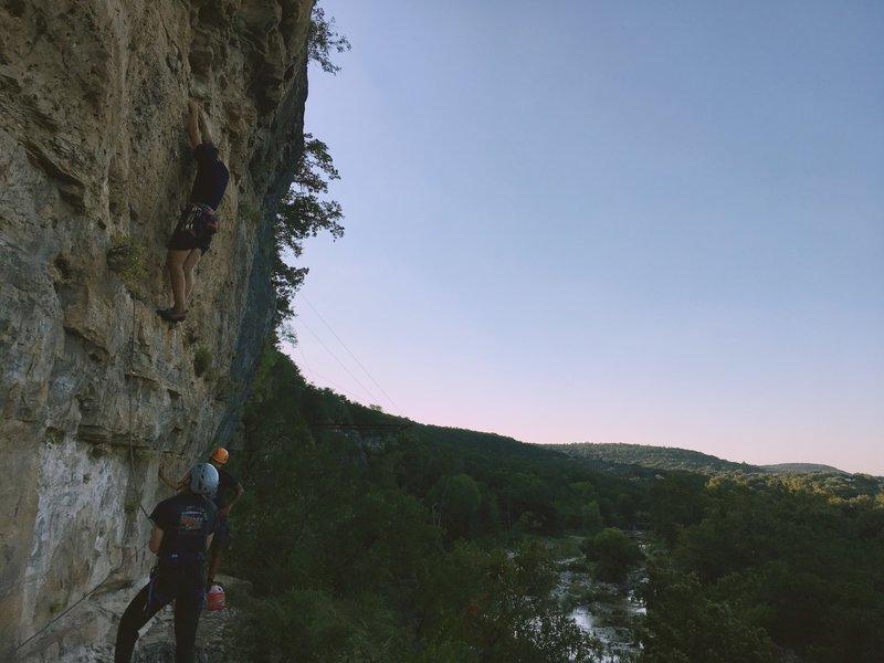 South Rim Climbing. (Yee-Haw 5.11)