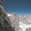 Derek on Swiss Arete, route finding