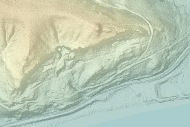 LIDAR DEM and Hillshade of Pere Marquette
