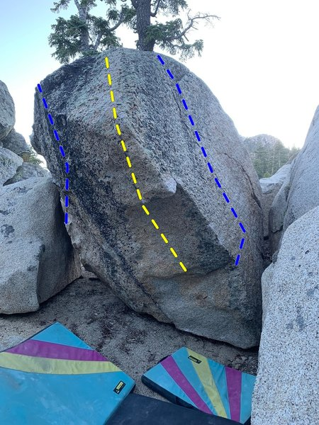 East side of the Flying Guillotine boulder