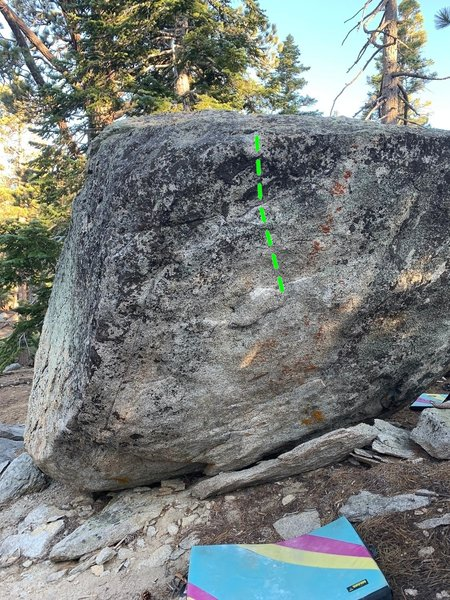 North face of Don's boulder