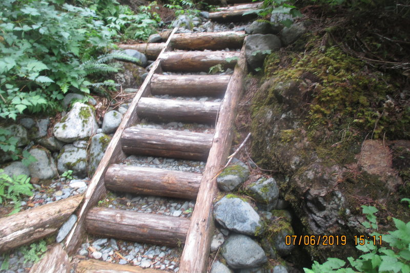 little staircase next to joint and sluice