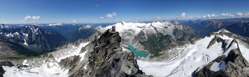 Summit pano with el dorado in the background