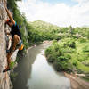 Inhale 7B at river wall