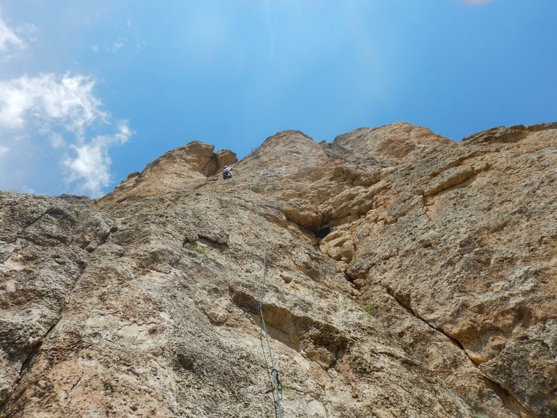 Beautiful climbing on Put Down your Ducky