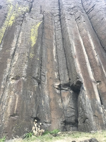 West Judith wall has no shortage of traditional finger cracks that probably haven't been climbed in years.