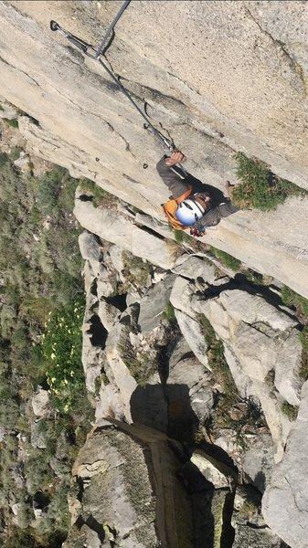 Such good climbing through the upper crux!