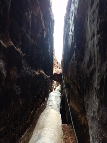 View up the 3rd pitch