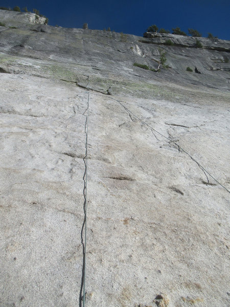 Chop The Hogs - right rope is actual route, left rope is a fun variation on TR