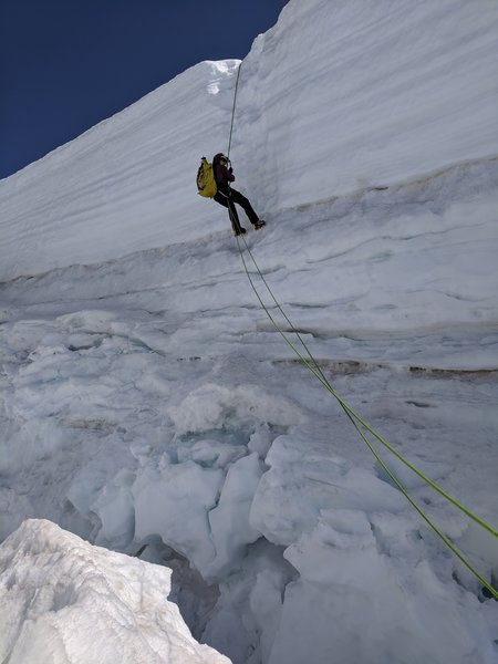 Major crevasse on Coleman-Deming route.