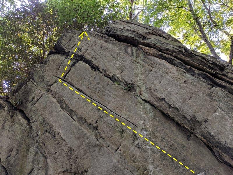 Diagonal Crack on East Face of The Diamond