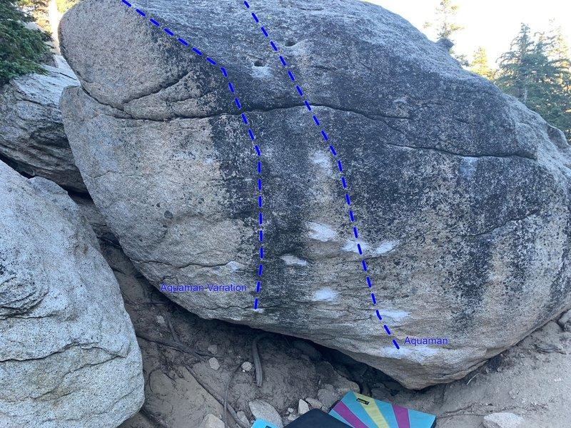 East face of Aquaman boulder