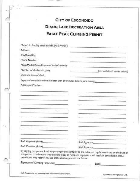 Climber Registration Form - 8/2019