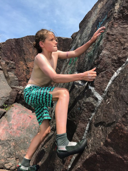 climbing SA in my swimsuit