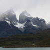 Cuernos Del Paine :  North (in cloud), Central and East