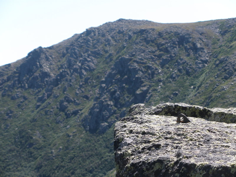 "Photo 5 - ""Others were here before""   In the background the Boott Spur buttress(s)"