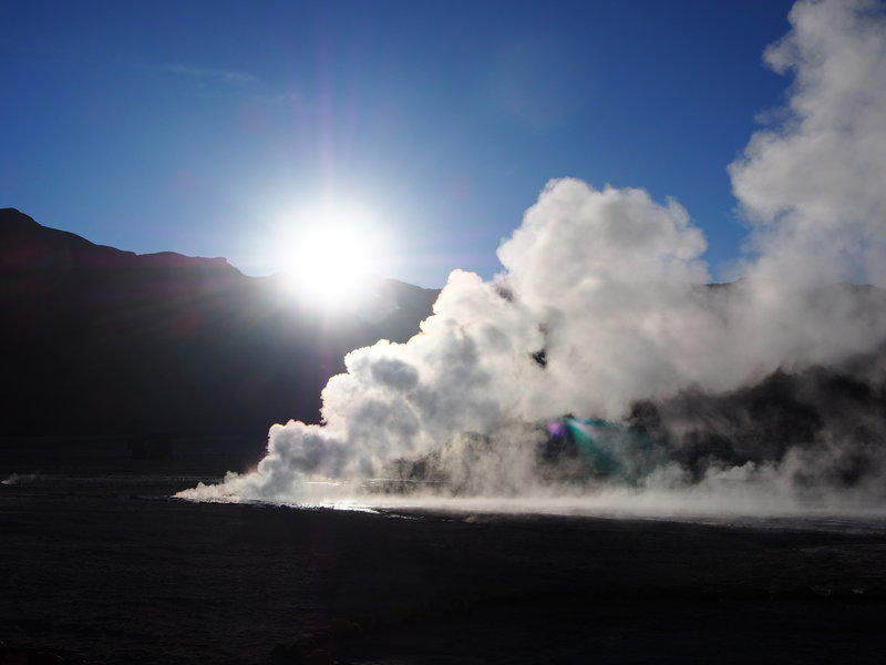 Geysers and Hot Springs at Dawn - Atacama Desert