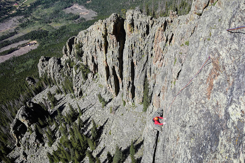 Ted Kryzer on the last pitch of Big Steep. August 2019.