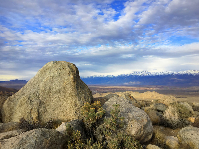 Above the Owens Valley: Tablelands and White Mountains behind, Bishop Creek CA